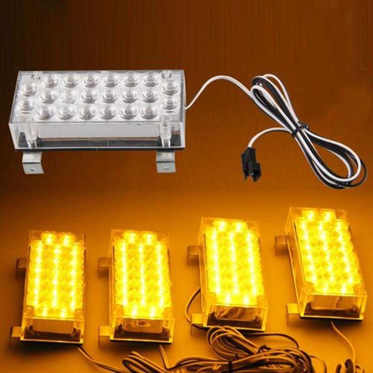 Stunning CARCHET LED Yellow Strobe Emergency Flashing Warning Light for Car Truck Lights