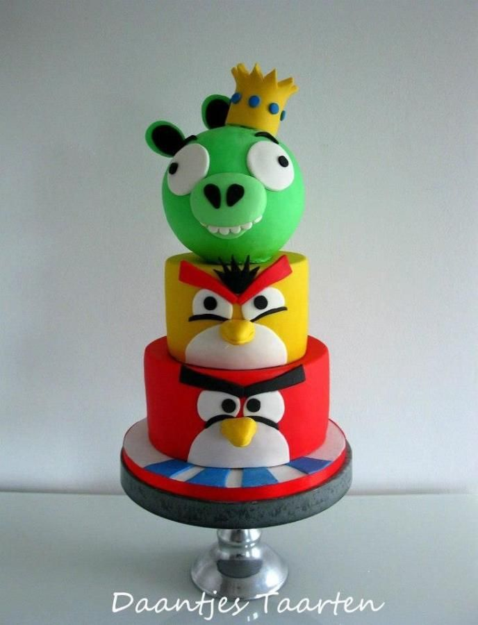 39 best Angry Birds Cakes images on Pinterest Angry birds cake