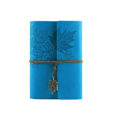 Raj couverture souple En Cuir voyageur cahier vierge kraft papier A7 A6 école creative note livre journal carnet de voyage 6 anneau liant