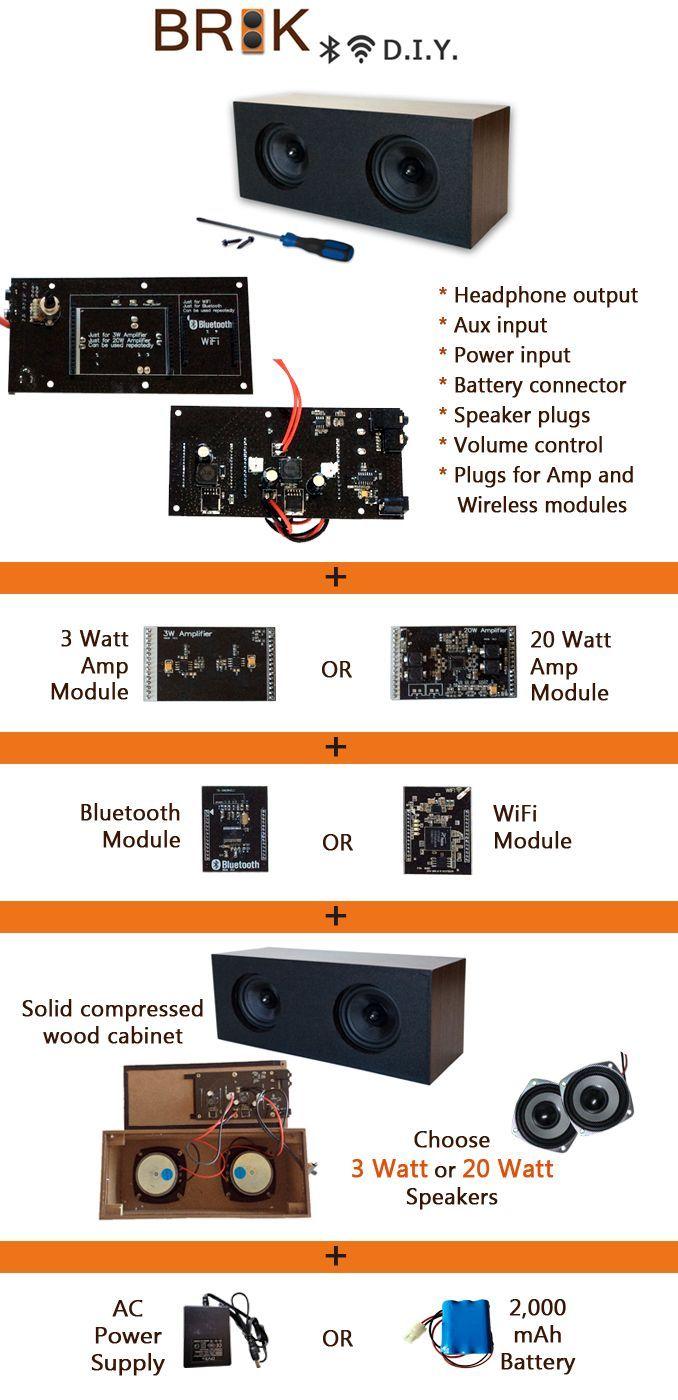 Skema box speaker woofer search results woodworking project ideas - Brik Diy Wireless Speaker System Customize It Your Way By Brik Tech Kickstarter
