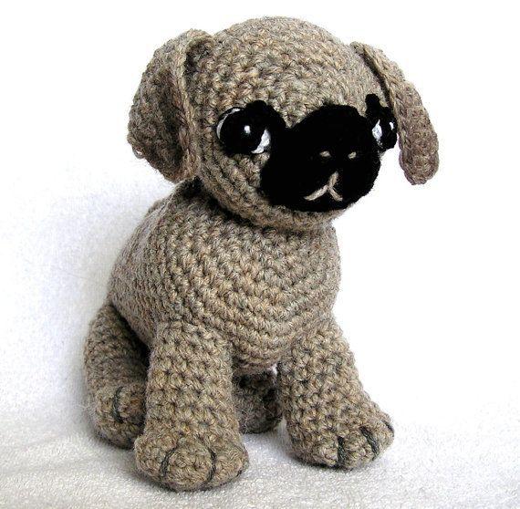 Crochet pug, Gehaakte mopshond