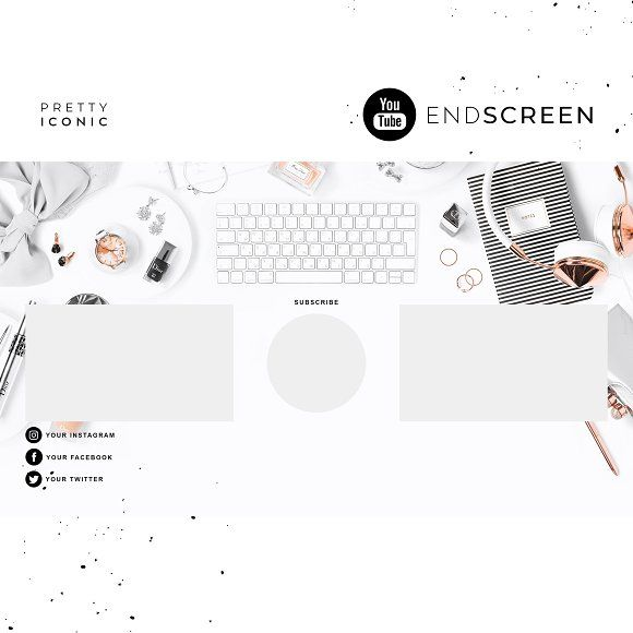 Rose Gold Youtube End Screen Youtube Banner Backgrounds Youtube Banners Video Design Youtube