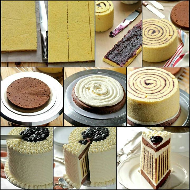 How to get vertical stripes in your cake! Wow! Soo cool!