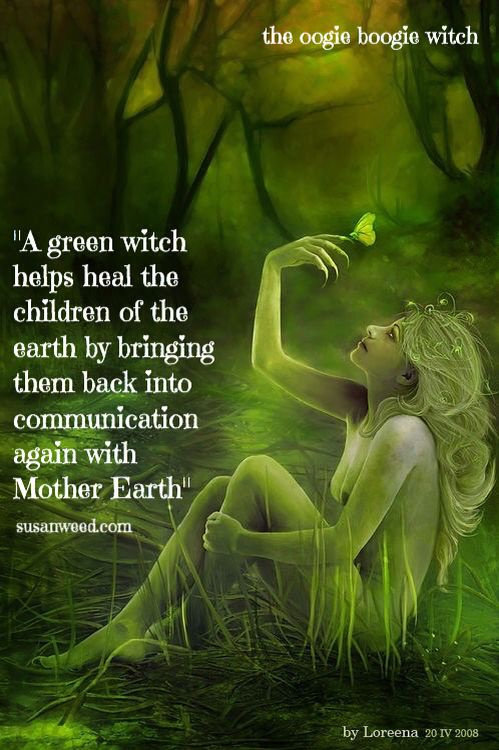 •°• W i t c h y Things •°• Green Witches.