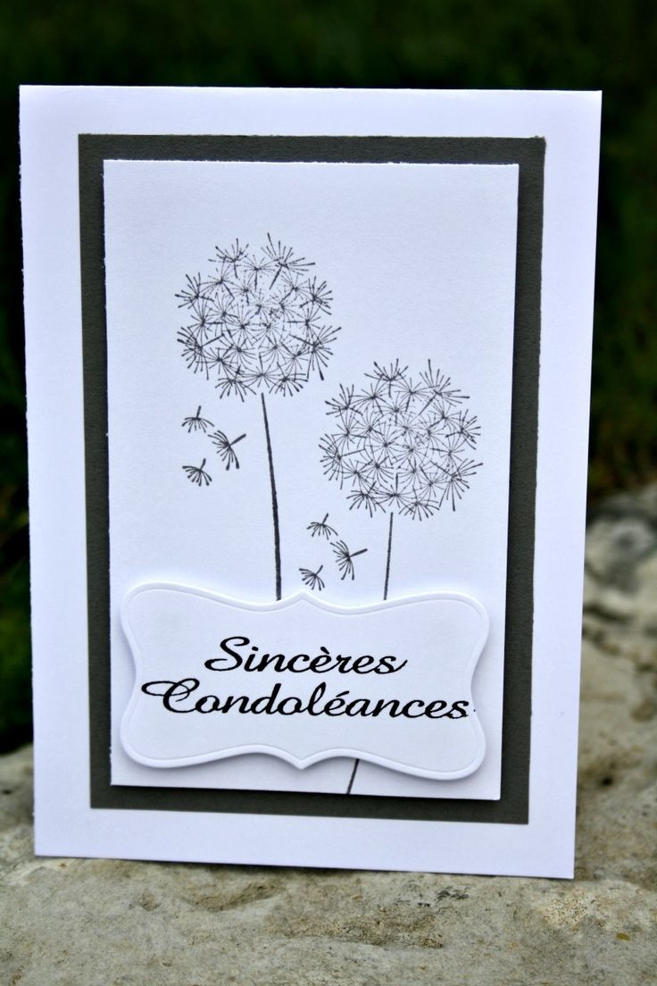 Carte de condoléances : Cartes par lady-coccinelle-creations