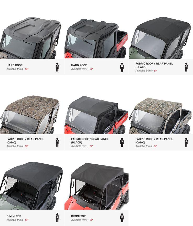 2016 Honda Pioneer 1000 Optional Roof / Top & Accessories