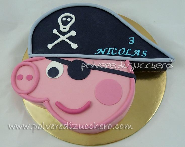 Polvere di Zucchero: cake design e sugar art. Corsi decorazione torte,biscotti,cupcakes e fiori: Passo a Passo Peppa Pig: George Pirata bidimensionale