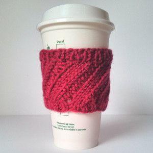 Manga de la taza de café de costilla diagonal