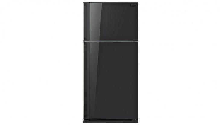 Sharp 584L Premium Top Mount Refrigerator - Black Glass - Fridges - Appliances - Kitchen Appliances | Harvey Norman Australia