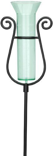 """Graceful Rain Gauge by WalterDrake by WalterDrake. $9.99. Rain Gauge is attractive and accurate. Don't ruin the look of your yard with an unattractive, clunky piece of equipment -- this elegant model adds charm with sturdy plastic frame and glass-like acrylic rain collector. Shows instantly how much rain has fallen. Just press aluminum bottom spike into ground. Measures 34 1/4"""" x 5 1/4""""."""