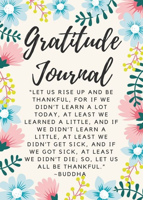Gratitude Journal free printable download. Use the power of gratitude to transform your life + spirituality + Universal law of gratitude + self-help + Journals + Happiness +