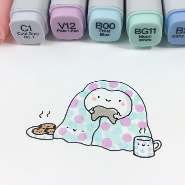 Happy World Introvert Day #worldintrovertday #stayathomeclub #spookymccute #cookies #videogames #kawaii #doodle #copicmarkers #かわいい #可愛い #pastel #introvert