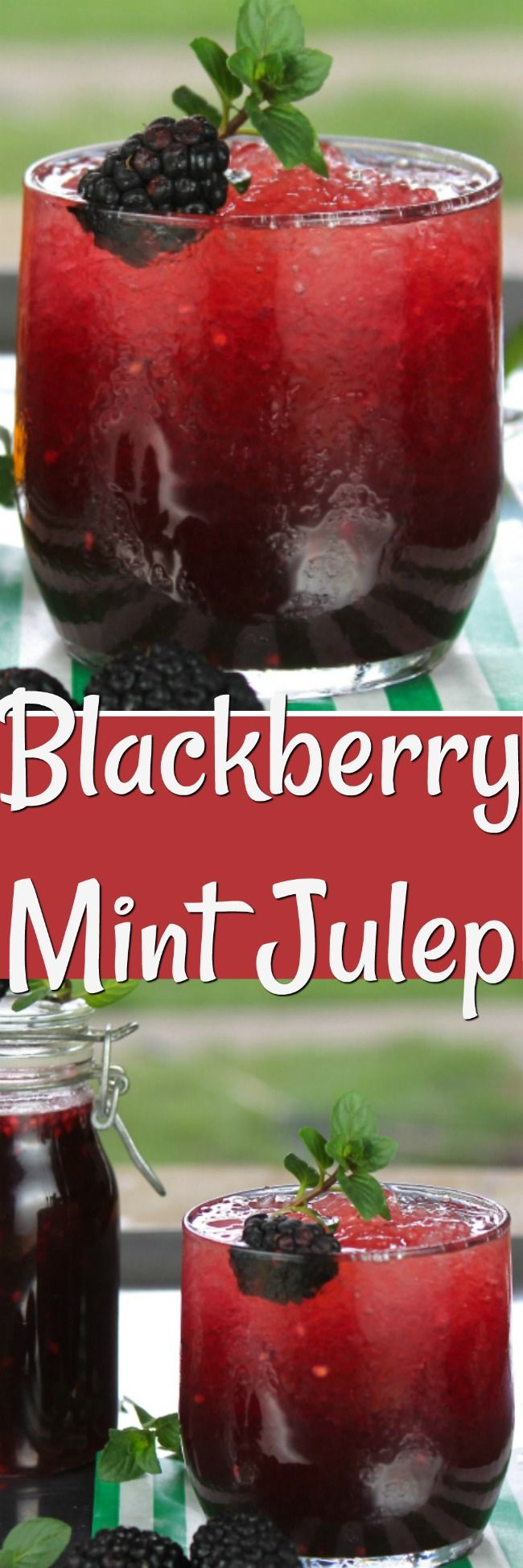 Blackberry Mint Julep a southern twist on the classic Kentucky Derby cocktail.  From missinthekitchen.com #cocktail #kentuckyderby #bourbon #blackberries