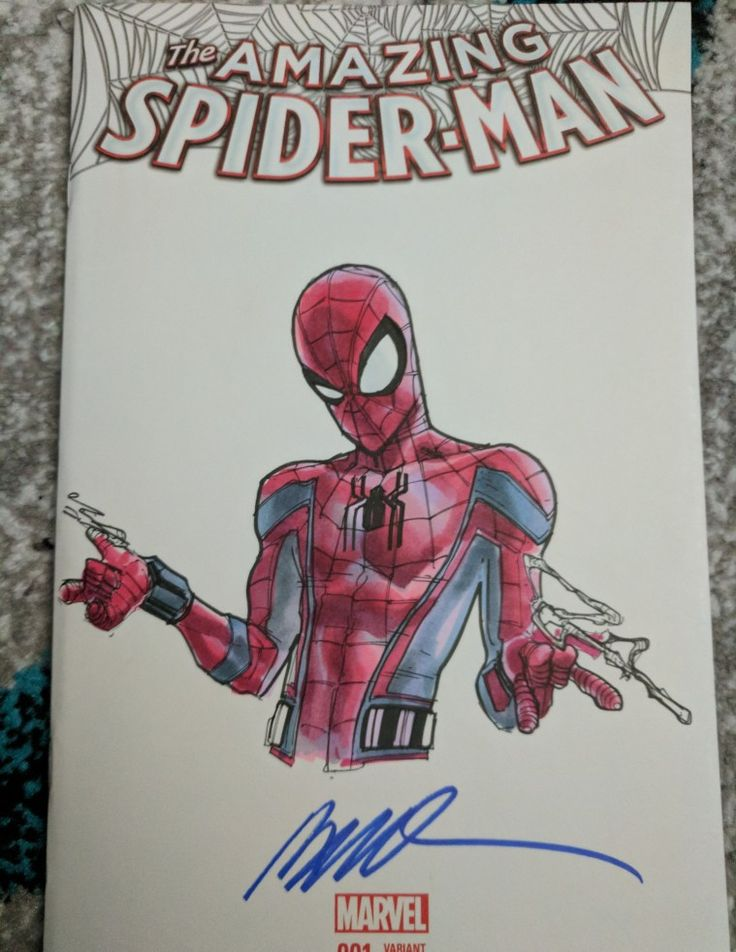 Humberto Ramos sketch of Spider-Man homecoming thwip thwip
