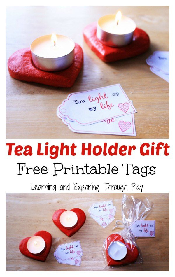 Learning and Exploring Through Play: Salt Dough Heart Candle Holder Gift