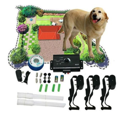 Underground-Electric-Dog-Collar-Fence-System-Petsafe-Shock-3-Dogs-Training-Small