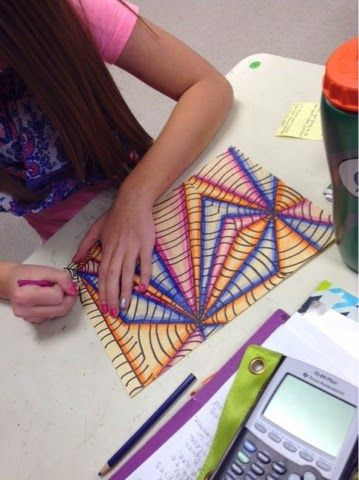 Art at Becker Middle School: Falling into Op Art