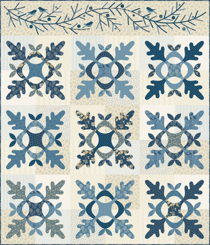 Thousand Oaks by Laundry Basket Quilts made with Blue Sky for Andover