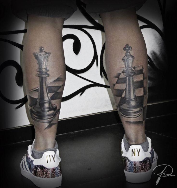 Chess tattoo by Jim DW