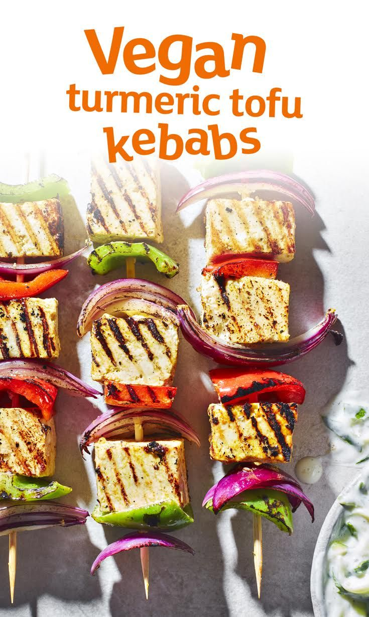 Fire up the griddle - these vegan tofu kebabs are marinated and ready for action. This recipe makes the perfect starter, so get cooking!