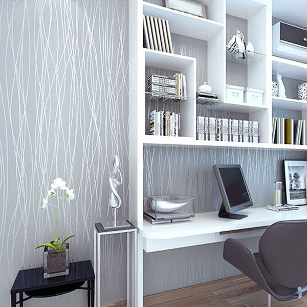 Non Woven Fashion Thin Flocking Vertical Stripes Wallpaper For Living Room Sofa  Background Walls Home Wallpaper 3d Grey Silver Dropship, ... Nice Ideas