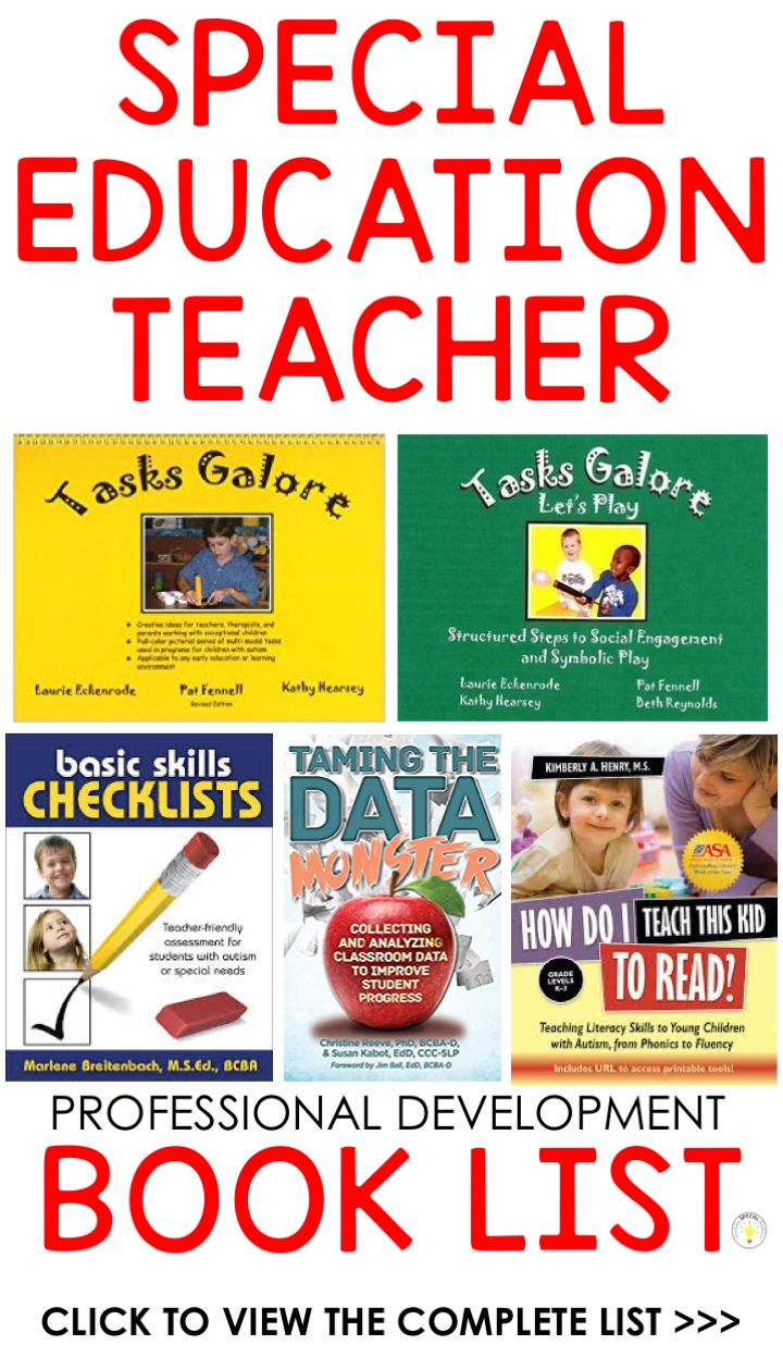 Ten Books Each SPED Trainer Wants