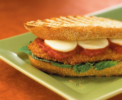 Chicken Cutlet and Bocconcini Panini with Tre Stelle® Bocconcini #brunch #bocconcini #recipe