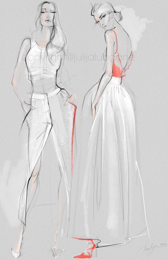 These Illustrations Were Inspired By 2016 Fashion Fashion Illustration Sketches Fashion Illustration Illustration Fashion Design