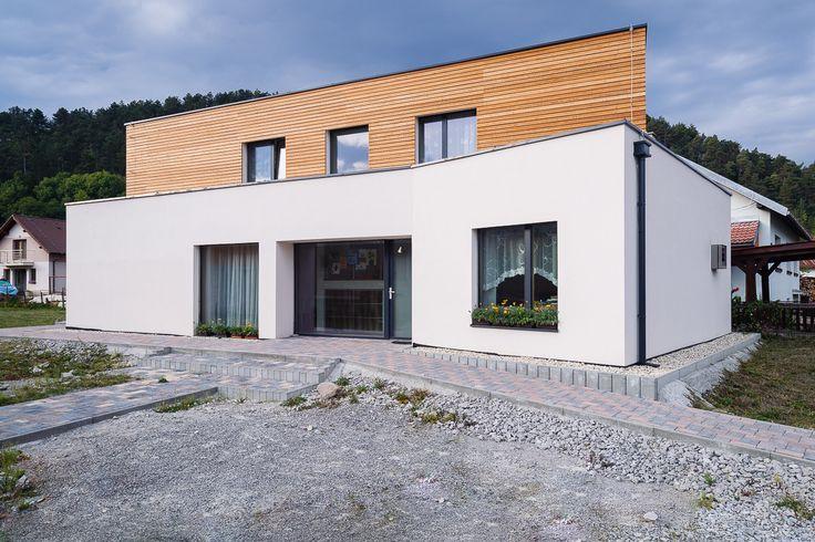 passivhaus   family   house   #kalksandstein   two-storey house   Slovenská Lupča   slovakia  