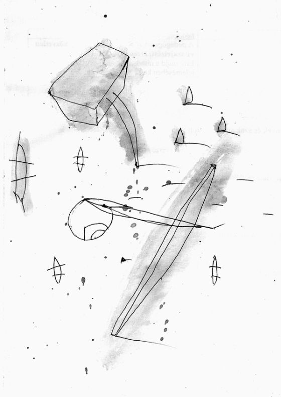 Csaba Pál, drawing 03, A/5