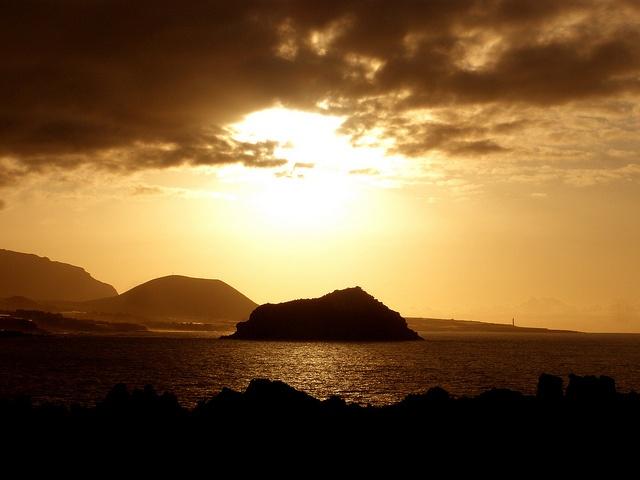 Atardecer en la Isla Baja