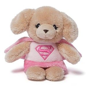 DC Comic Super Girl Plush Superhero Baby Rattle Super Girl Yvette.  ages 0+. The perfect size for little hands. Measures 5.5in H x 3in W x 4in L http://awsomegadgetsandtoysforgirlsandboys.com/gund-superhero/ Gund Superhero: DC Comic Super Girl Plush Superhero Baby Rattle