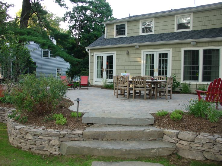 Stone Patio Design Ideas patio design ideas Project Gallery Project 4 Raised Patio Landscape Renovation