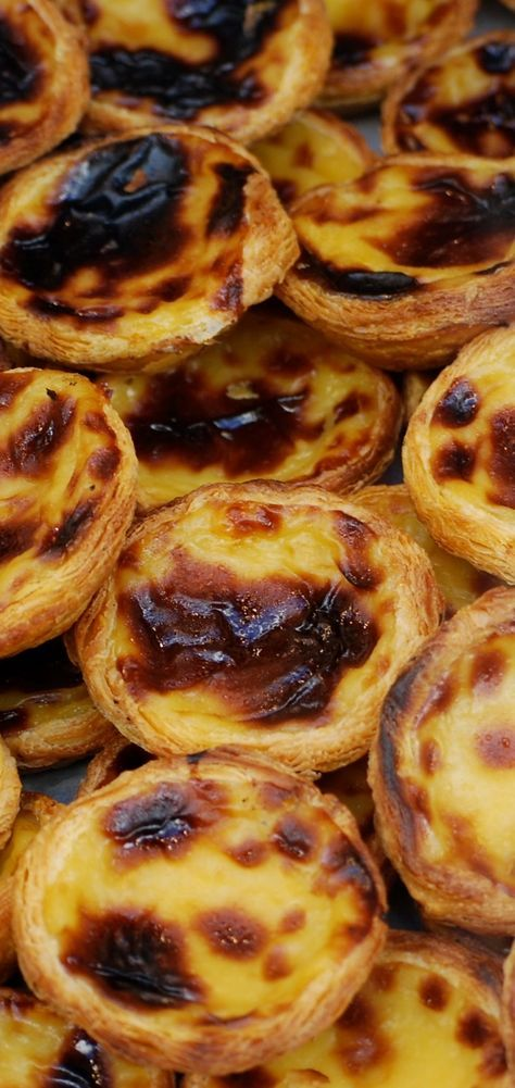 Pastel de Belém (or custard pastry)   Nata #Portugal #Porto #Portoholidays