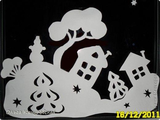 Декор предметов Новый год Вырезание Ура  Наши окна готовы Новый год встречать Бумага фото 8