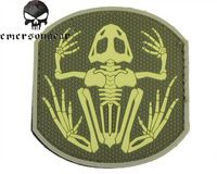Emerson Frog Skeleton PVC Patch Military Hunting Morale Bone Armband Army Badge PVC 3D Tactical Patch EM5551 Foliage Green