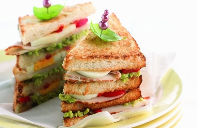 Clubsandwich #recepten #lente