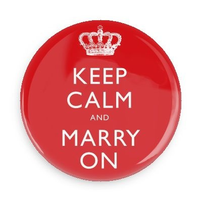 Keep Calm & Marry On Button -1 inch - Same Day Weddings™