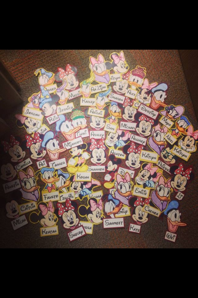 Disney door decs! (except maybe with the Frozen characters/Disney Princesses?)