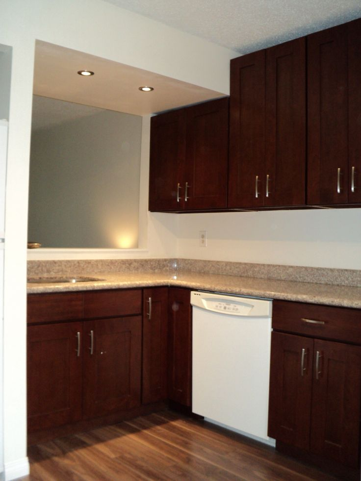 Cherry Stained Cabinets Kitchen