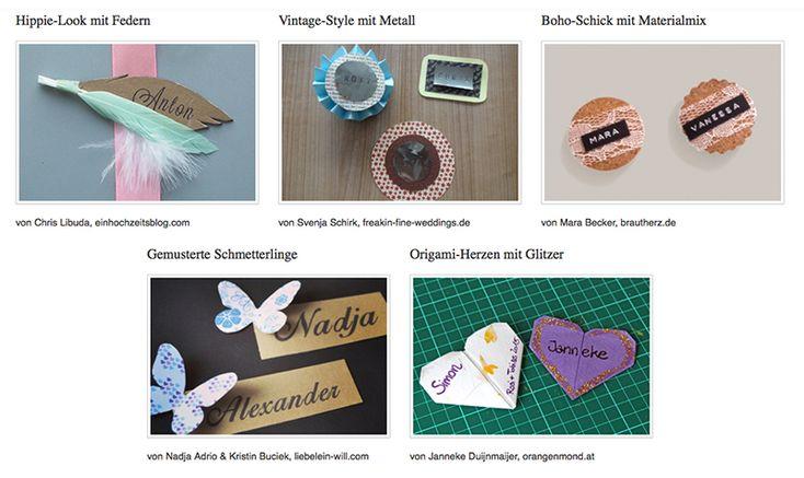 Kreative Magnet-Namensschilder für die Hochzeit (Kostenlose Bastelanleitung)