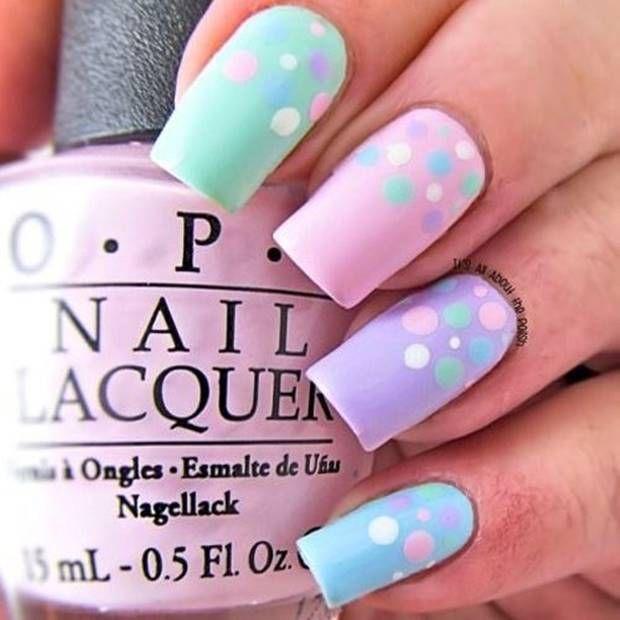 احدث الوان مناكير باستيل و بنفسجي و فضي و سماوي 2019 Latest Nail Polish Pastel Violet Silver And Cy Pastel Nails Designs Easter Nails Pastel Nail Art