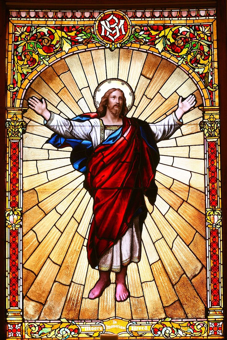 Jesus the Risen Lord stained glass ~ San Francisco Columbarium