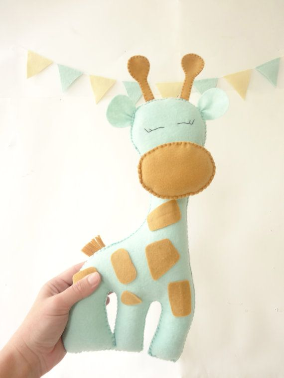 Giraffe Stuffed Toy Felt giraffe plush toy by LaPetiteMelina, $25.00
