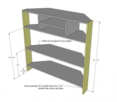 Corner tv stand Something very similar to this. This particular model won't meet my needs, but it's a start of what I want.
