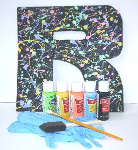 Splatter Painted Letter Art Kit by MentalBaggage on Etsy, $15.00Painting Letters, Kids Stuff, Art Kits, Amazing Things, Crafts Night, Letters Art, Fun Crafts, Etsy Friends, Crafts Amazing