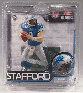 McFarlane Toys NFL Sports Picks Series 29 Exclusive Action Figure Matthew Stafford (Detroit Lions) by McFarlane Toys. $27.15. McFarlane Toys is offering the exclusive SportsPicks Debut of one of the best young quarterbacks in the game today, Detroit Lions own MATTHEW STAFFORD!  The former Georgia Bulldog QB, drafted #1 overall in 2009 by the Detroit Lions, had been plagued by injuries in his first two NFL seasons, only playing 13 total games over the course of ...