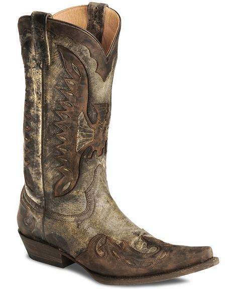 These Stetson Distressed Eagle Cowboy Boots are just amazing! You won't find a more unique looking pair of boots!