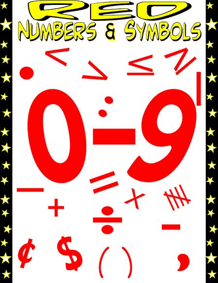 10 Best Preview Pages Of My Numbers And Math Symbols Packets Images