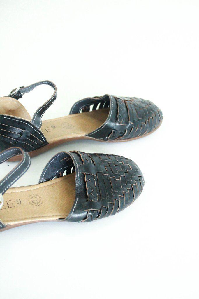 dcb523bedcfd Black Open Toe Summer Huarache Sandal